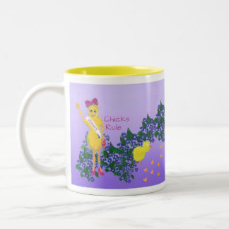 Jersey Chicks Rule! Two-Tone Coffee Mug