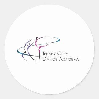 Jersey City Dance Academy Logo Round Stickers