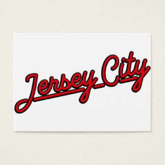 Jersey City in red Business Card