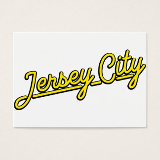 Jersey City in yellow Business Card