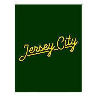 Jersey City in yellow Postcard