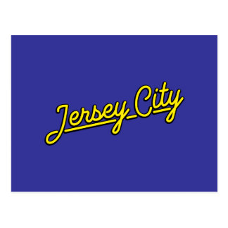 Jersey City in yellow Post Card