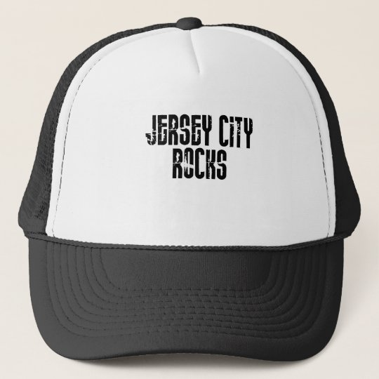 Jersey City New Jersey Rocks Trucker Hat