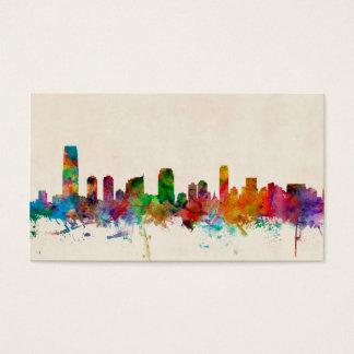 Jersey City New Jersey Skyline Business Card
