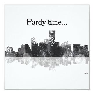 JERSEY CITY, NEW JERSEY SKYLINE INVITATION