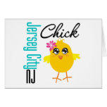 Jersey City NJ Chick Greeting Card