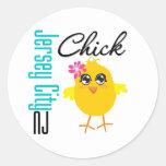 Jersey City NJ Chick Sticker