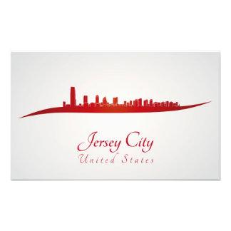 Jersey City skyline in red Impresiones Fotograficas