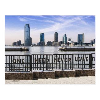 Jersey City Skyline One Need Never Leave Postcard