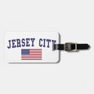 Jersey City US Flag Luggage Tag