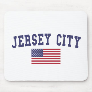 Jersey City US Flag Mouse Pad