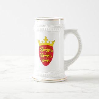 Jersey Coat Of Arms Beer Stein