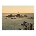 Jersey, Corbiere Lighthouse, I, Channel Islands, E Postcard