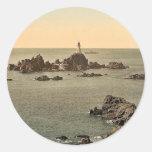 Jersey, Corbiere Lighthouse, I, Channel Islands, E Stickers