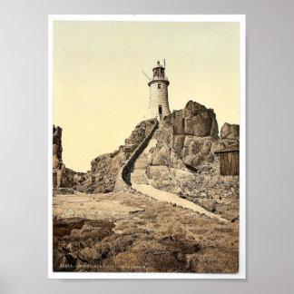 Jersey Corbiere Lighthouse III Channel Islands Poster