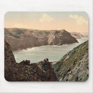 Jersey, costa del agujero del diablo, canal Islan Alfombrillas De Ratón
