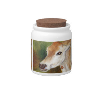 jersey cow aceo candy jars