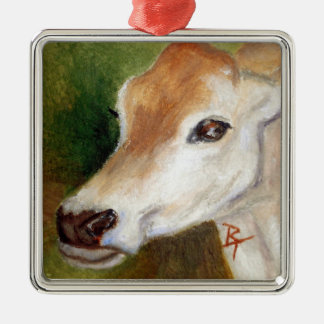 Jersey Cow aceo Ornament