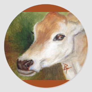 Jersey Cow aceo Sticker