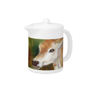 jersey cow aceo teapot