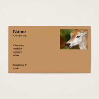 Jersey Cow acoe Business Cards