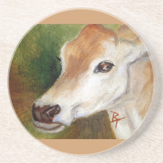 Jersey Cow acoe Coaster