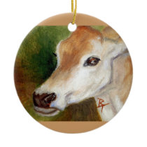 Jersey Cow acoe Ornament