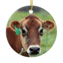 Jersey Cow Ceramic Ornament