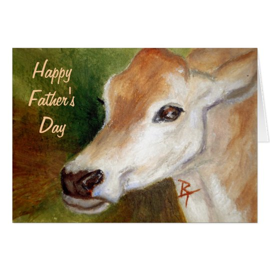 Jersey Cow Father's Day Card