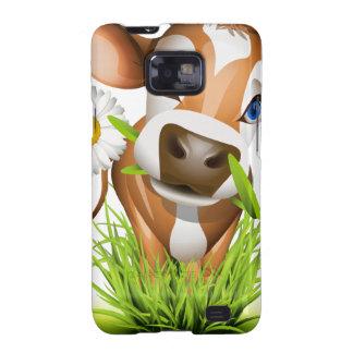Jersey cow in grass samsung galaxy s2 case