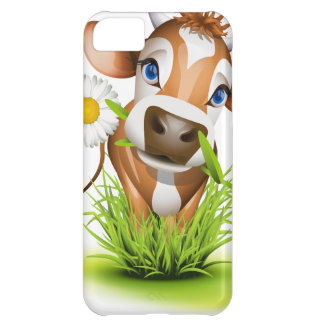 Jersey cow in grass case for iPhone 5C