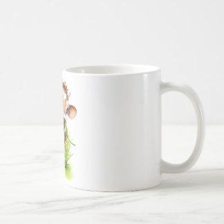 Jersey cow in grass coffee mug