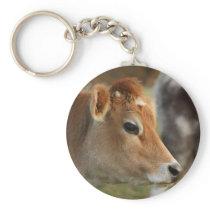 Jersey Cow Keychain