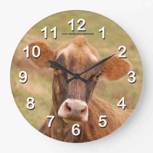 Jersey Cow Large Clock