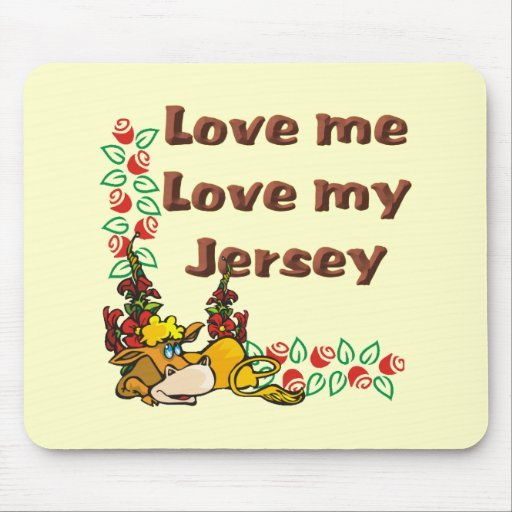 jersey cow mousepad