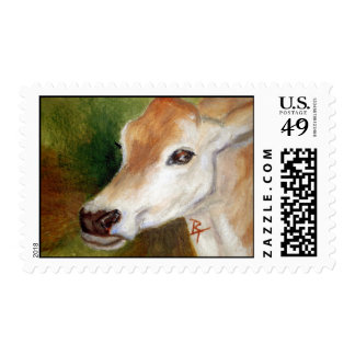 Jersey Cow Postage Stamp