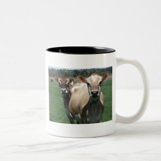 Jersey cows Two-Tone coffee mug