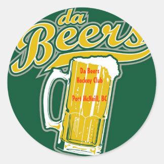 jersey, DA BeersHockey ClubPort McNeill, A.C. Pegatina Redonda