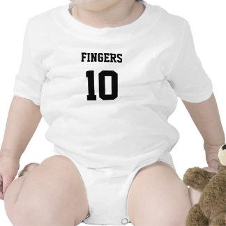jersey de 10 de los dedos 10 de los dedos del pie trajes de bebé
