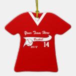 Jersey de béisbol con el cambio del color ornamento para arbol de navidad