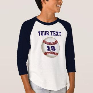 Jersey de béisbol PERSONALIZADO su nombre y número