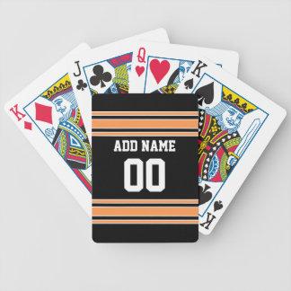 Jersey de equipo con nombre y número de encargo baraja de cartas bicycle