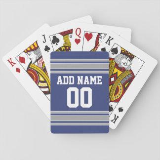 Jersey de equipo con nombre y número de encargo baraja de póquer
