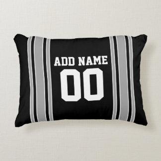 Jersey de equipo con nombre y número de encargo cojín decorativo