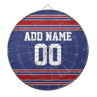 Jersey de equipo con nombre y número de encargo tablero dardos