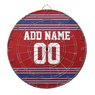 Jersey de equipo con nombre y número de encargo tablero de dardos