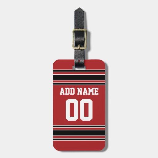 Jersey de equipo con nombre y número de encargo etiquetas para maletas