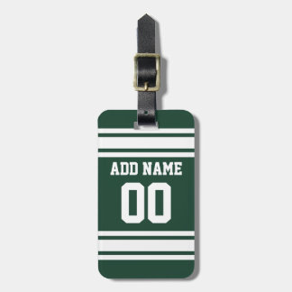 Jersey de equipo con nombre y número de encargo etiquetas para equipaje