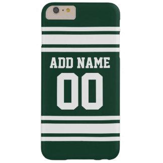 Jersey de equipo con nombre y número de encargo funda de iPhone 6 plus barely there