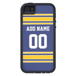 Jersey de equipo con nombre y número de encargo iPhone 5 protector